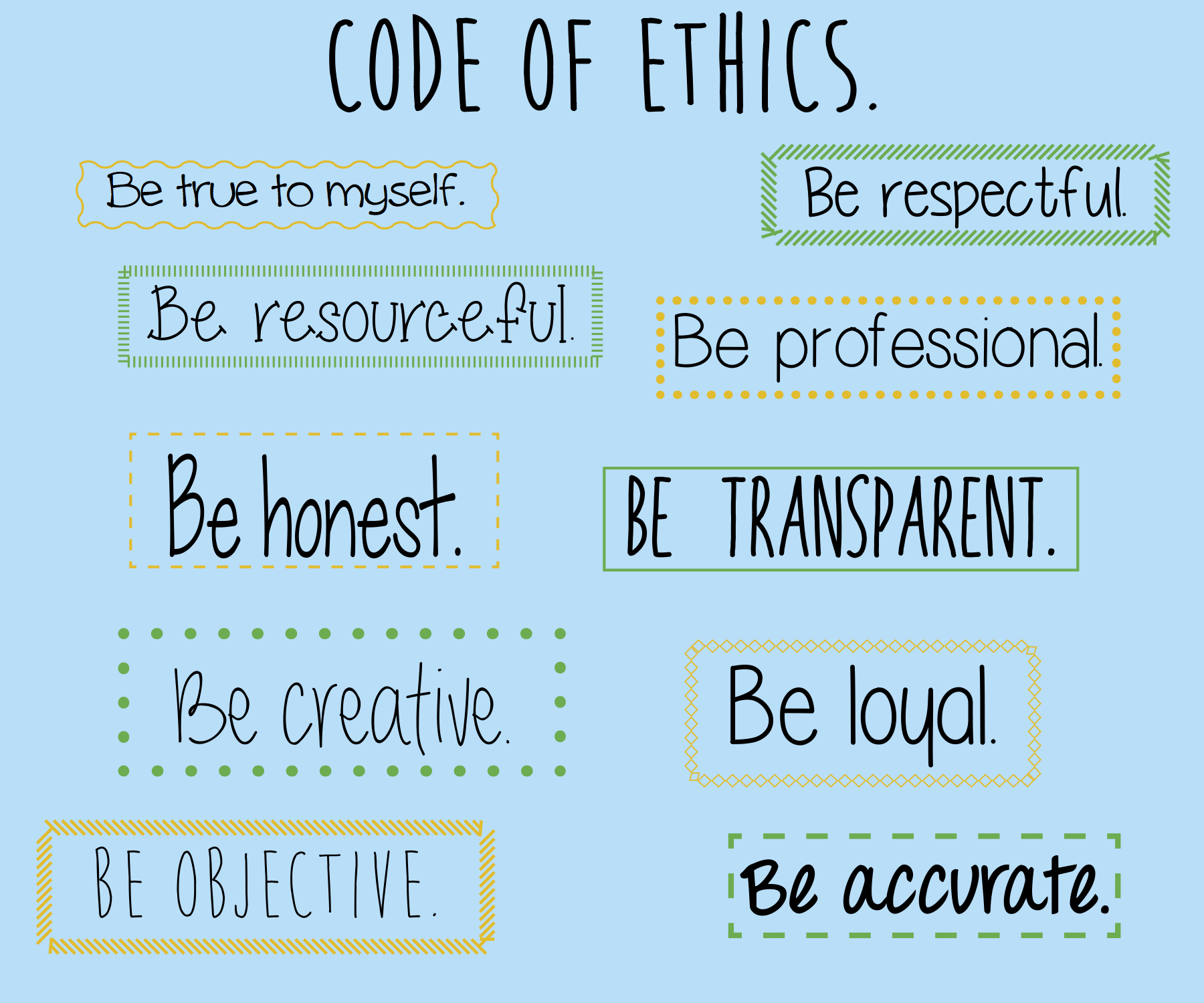 development of a code of ethics it challenges essay Code of ethics for healers: a code of conduct that identifies principles and ways of being and behaving that are in  b professional and personal development.